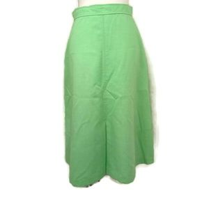 "Vintage ""Rated G"" Green A-Line Skirt"